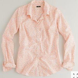 J. Crew dizzy floral perfect shirt button down 2